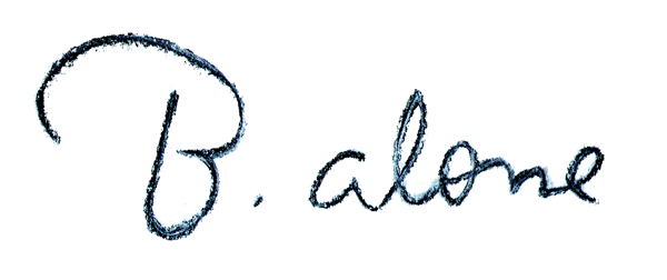 B.ALONE